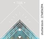 vector template in boho style | Shutterstock .eps vector #276856394
