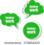 donkey work. set of stickers ... | Shutterstock .eps vector #276856520