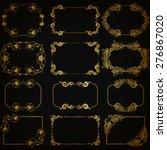 vector set of decorative hand... | Shutterstock .eps vector #276867020