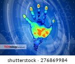 technology background   thermal ... | Shutterstock .eps vector #276869984