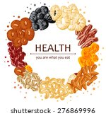 dried fruits round composition | Shutterstock .eps vector #276869996