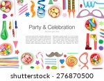 party and celebration elements...   Shutterstock . vector #276870500