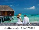 Couple On A Tropical Beach...