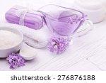 sea salt and essential oils ... | Shutterstock . vector #276876188
