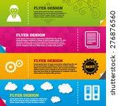flyer brochure designs....   Shutterstock .eps vector #276876560