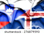 waving flag of iceland and... | Shutterstock . vector #276879593