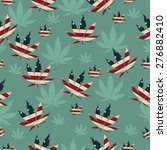 marijuana leaf with the colors... | Shutterstock .eps vector #276882410