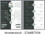 modern 2 sided cv resume...   Shutterstock .eps vector #276887534