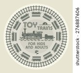 Toy Trains Design  Vector...