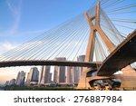 estaiada bridge in sao paulo  ... | Shutterstock . vector #276887984