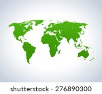 map of world | Shutterstock .eps vector #276890300