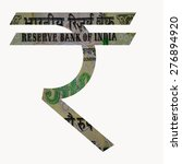indian currency rupee symbol...   Shutterstock . vector #276894920