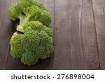 fresh green broccoli on the...   Shutterstock . vector #276898004