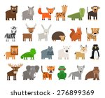 set of wild animals | Shutterstock .eps vector #276899369