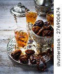 traditional arabic tea and dry... | Shutterstock . vector #276900674