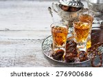traditional arabic tea and dry...   Shutterstock . vector #276900686