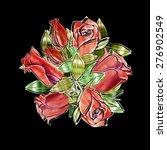 roses seamless pattern | Shutterstock . vector #276902549