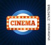 retro cinema billboard with... | Shutterstock .eps vector #276907868