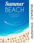 sunny summer beach background... | Shutterstock .eps vector #276908708