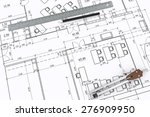 engineering drawing with... | Shutterstock . vector #276909950