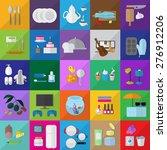 flat icons set  vector... | Shutterstock .eps vector #276912206