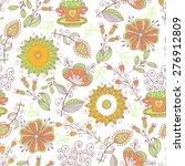seamless pattern in vintage...   Shutterstock .eps vector #276912809