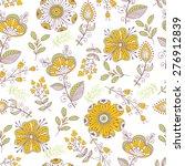 seamless pattern in vintage... | Shutterstock .eps vector #276912839