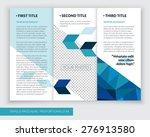 template design of blue trifold ... | Shutterstock .eps vector #276913580