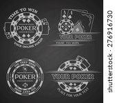 set poker emblems. | Shutterstock .eps vector #276916730