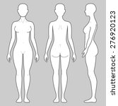 female body from three angles | Shutterstock .eps vector #276920123