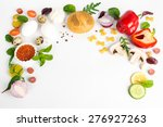 various products. top view with ...   Shutterstock . vector #276927263