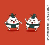 vector sumo onigiri cartoon... | Shutterstock .eps vector #276931874