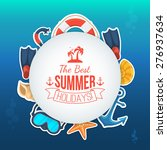 sea shore and beach accessories....   Shutterstock .eps vector #276937634