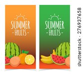tropical exotic fruits. summer... | Shutterstock .eps vector #276937658