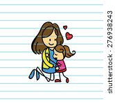vector of happy mom and... | Shutterstock .eps vector #276938243