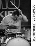 Small photo of DENVER MAY 11: Jean Gaster of Clutch performs May 11, 2001at Red Rocks Amphitheater in Denver, CO.