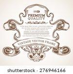 vector vintage border frame... | Shutterstock .eps vector #276946166