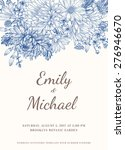 floral wedding invitation in... | Shutterstock .eps vector #276946670