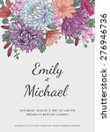 floral wedding invitation in... | Shutterstock .eps vector #276946736