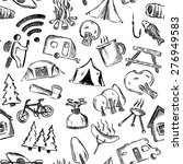 seamless camping pattern. hand... | Shutterstock .eps vector #276949583
