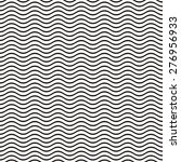 black seamless wavy line... | Shutterstock .eps vector #276956933