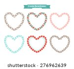 vector floral frames in shape...   Shutterstock .eps vector #276962639
