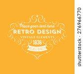 vintage frame for luxury logos  ... | Shutterstock .eps vector #276966770