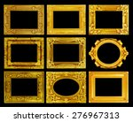 the antique gold frame on the... | Shutterstock . vector #276967313