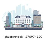 panorama of the city. the hotel ... | Shutterstock .eps vector #276974120