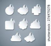 vector blank white wobbler... | Shutterstock .eps vector #276975278