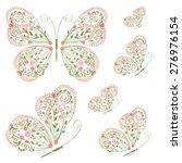 set of decorative butterflies...