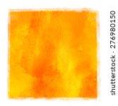 Watercolor Square Yellow ...