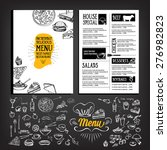 restaurant cafe menu  template... | Shutterstock .eps vector #276982823