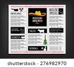 restaurant cafe menu  template... | Shutterstock .eps vector #276982970